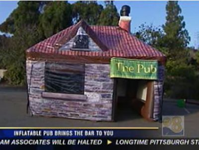 Click here to watch this interview with CBS on Portable Pubs!